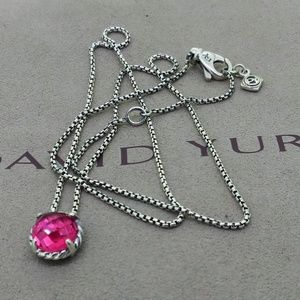David Yurman Chatelaine Necklace Pink Tourmaline